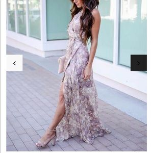 Floral Ruffle Maxi Wrap Dress!